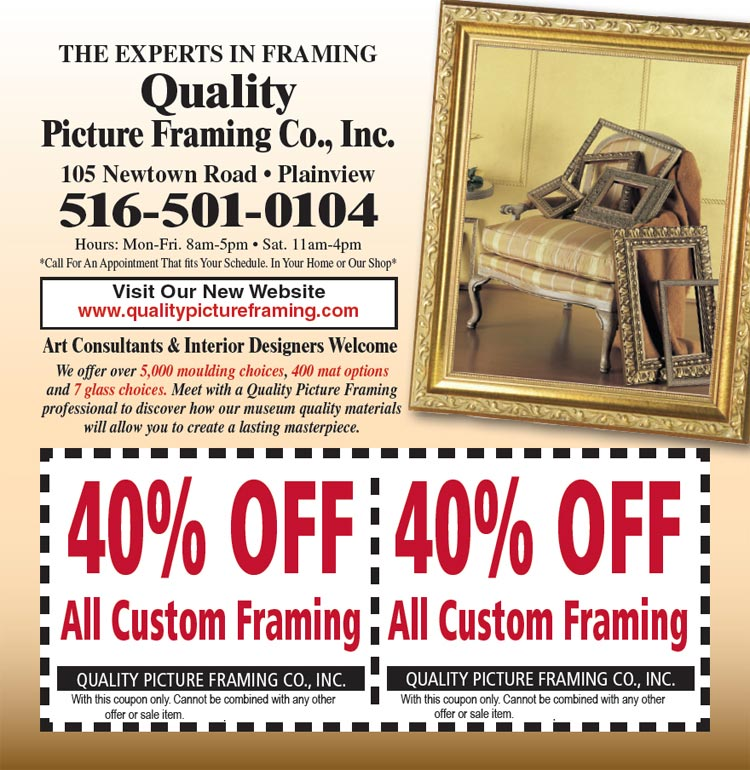 Discount Picture Framing Coupon | Quality Picture Framing